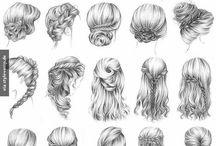 Haare malen