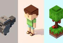 Voxels and Pixels Art