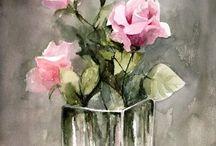 růže ve skle