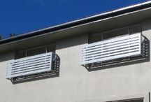 Privacy screens / Ways of dealing with privacy issues and overlooking regulations.