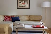 Orange living room / by AngelinaLynn