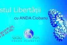 Manifestul libertatii / La Radio Gaia, Din 5 martie 2015, in fiecare joi de la ora 21 pana la 22, ora Bucurestiului, (UTC +02:00 ), o emisiune cu si despre TINE!