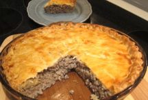 Meat pies and casserole