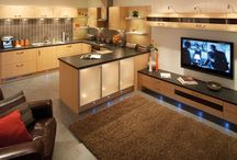 open lounge and kitchen ideas