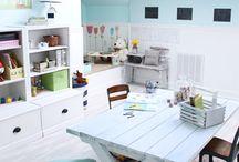 DIY kids school room idea