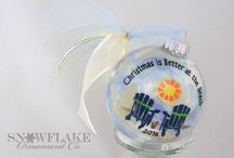 Christmas is Better at the Beach Glass Ornament