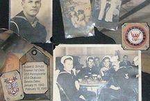Scrapbook old family photos