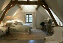 slaapkamer zolder boerderij
