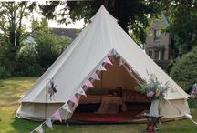 Wedding ideas / Glamping and flower ideas for weddings