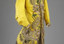 1700-1800 Man and Womans clothing Yellow colour