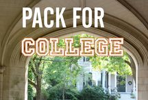 college prep / What to pack for your college stay and dorm room.
