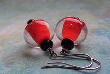 lampwork beads and jewelry / Handmade Lampwork Glass Bead by Jana Nemejcova
