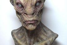 personajes escultura