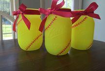 Softball decorations
