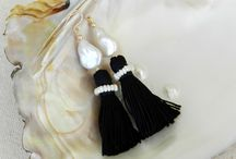 My Pearl and Tassel Earrings / My personal design of freshwater pearls and tassel earrings for a fresh take on classic.