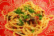 PASTA PUTTANESCA  gluten free /  Fast, hot and quick!  It is just perfect for a speedy after work meal!   Kitchen Wisdom Gluten Free Pasta Puttanesca Recipe  http://kitchenwisdomglutenfree.com/2014/01/31/pasta-puttanesca-gluten-free-forget-what-you-know-about-wheatc-2014/