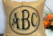 Customized Monogram Pillows