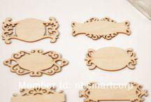wooden veneer embellishments