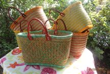 French baskets / Hand made french basket made by natural materials from Madagascar