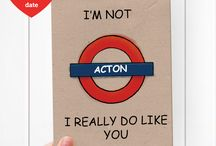Tube station puns / Enjoy our Valentine's Day-themed London Tube Station puns on postcards!