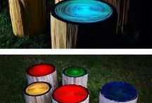 bonfire seating glow in the dark
