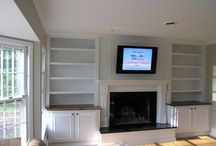 Fireplace Shelving