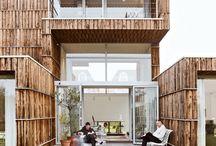 houses and backyards