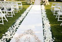 Svatební obřad ulička