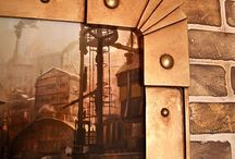 steampunk photo frames