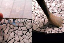 Mozaic din coji de oua