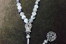 Tespih, Rosary Beads / Kazaziye püsküllü doğal taş tespih