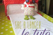 couture bebe / sac a langer