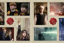 Harry Potter Stamped / Postage Stamps and Suchlike