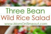 Three bean rice salad