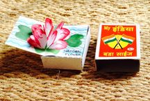 matchbox books / these are books i make in matchboxes i pick up from the street.  / by indu h