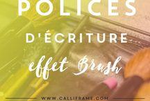 Police écriture