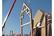 2014 Timber Frame Raisings / The best way to get a feel for what building your very own timber frame home would be like is to check out a frame raising in your area! Inquires about frame raisings can be sent to info@timberframe1.com or 800-227-4311 / by Woodhouse Timber Frame