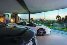 My House Crush / Even your cars deserve a #view in this $36M home in #beverlyhills #dreamlivingla #mdla #ferrari #rollsroyce