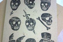 Linocut, woodcut