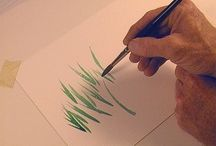 Watercolours - brushes and strokes