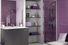 Salles de bain mauves / Voici quelques idées pour aménager une salle de bain de couleur mauve.