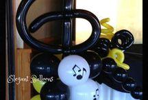 Музыка / Музыканты, музыкальные инструменты из воздушных шаров.