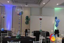 Power Ranger / A festa dos irmãos Luis Fernando e Luis Henrique foi do tema Power Ranger com direito a ter os personagens no evento e muitas atrações. A decoração foi feita com balões bubble que surpreendeu os convidados e bouquets de balões de 11 polegadas. Teve direito até a revoada de balões depois do parabéns. Créditos: Balões Balão Cultura