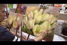 Tulipán festés