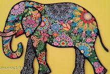 pintura elefante