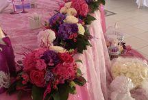 Классическое оформление свадьбы / Флористическое оформление банкетного зала