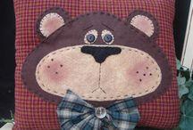 trauriges Bärenkissen
