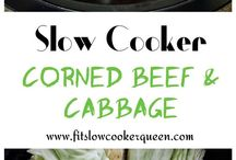 Corn Beef & Cabbage in slow cooker