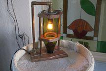 zelfgemaakte lampen.... / techniek meets lamp....