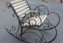 Зона отдыха / Садовые качели, кресла, скамейки